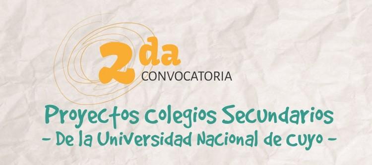 Segunda Convocatoria a Colegios de la UNCuyo