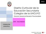 DISEÑO CURRICULAR: FORMACIÓN ESPECÍFICA: Arte - Multimedia