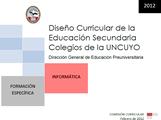 DISEÑO CURRICULAR: FORMACIÓN ESPECÍFICA: Informática